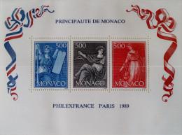 """PHILEXFRANCE"" 1989 - NEUF ** - YT BL 47 - MI BL 45 - Monaco"