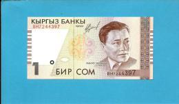 KYRGYZSTAN - 1 Som - 1999 - P 15 - UNC. - Série BH - Abdilas Maldibayeff - 2 Scans - Kirghizistan