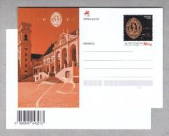 Architecture U.C. Coimbra´s University 750 Years 2015 Postal Stationery Portugal Birds Owls Hiboux Sp3353 - Birds