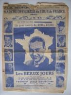 PARTITION - CYCLISME - A QUI L' TOUR  - MARCHE OFFICIELLE DU TOUR DE FRANCE 1937 - Spartiti