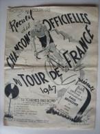 PARTITIONS - CYCLISME - RECUEIL DES CHANSONS OFFICIELLES DU TOUR DE FRANCE 1947 - Partitions Musicales Anciennes