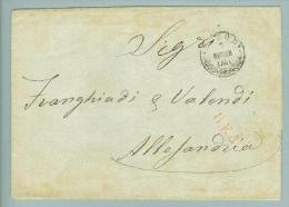 Ägypten Griechische Post 1864-10-07 Brief Nach Alexandria - Égypte