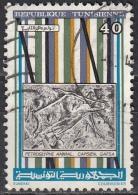 Tunisia, 1983 - 40m Orynx Head Rock Carving - Nr.833 Usato° - Tunisia (1956-...)
