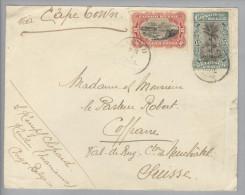Belgisch-Kongo 1914-07-07 Kindu Brief Via Capetown Nach Coffrane NE/CH - Congo Belge