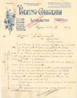 FACTURE LETTRE : LUGANO . BRUNO CLIORIDI . VINI . 1907 . - Italia