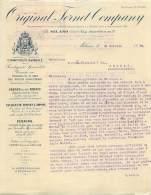 FACTURE LETTRE : MILANO . ORIGINAL FERNET COMPANY . 1926 . - Italia