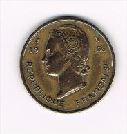 *** FRENCH WEST AFRICA  25 FRANCS  1956 - Centrafricaine (République)