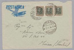 Eritrea 1936-07-27 Militärpostbrief Nach Tirano - Erythrée