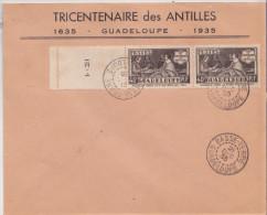 Lettre  Tricentenaire Des Antilles En 1935, Guadeloupe 21.12.1935 - Guadeloupe (1884-1947)