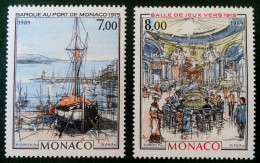 "MONTE CARLO & MONACO A ""LA BELLE EPOQUE"" 1989 - NEUFS ** - YT 1696/97 - MI 1934/35 - Monaco"