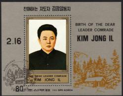 KOREA Nord 1988 - 46. Geburtstag Kim Jong IL - Block 230 - Korea (Nord-)