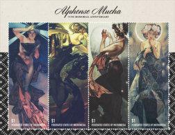 MICRONESIA  IGPC # 1438 SH ; MINT N H STAMPS OF ALPHONSE MUCHA - Micronesia