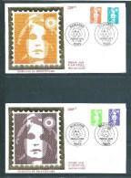 2 Envelloppes  Premier Jour Avec N°2620/21 Et 2625/26 Type Marianne  21/5/1990 - Unclassified