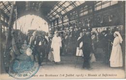 LYON - Gare Des Brotteaux - Blessés Et Infirmières, Cachet Militaire Dépot Des Isolés - Autres