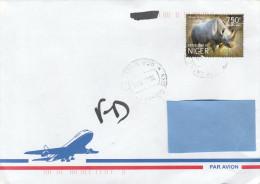 A] Enveloppe Cover NIGER Rhino Rhinoceros Diceros Bicornis - Rhinozerosse