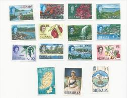 Grenada 1974 Sg 231-45 Definitives Set MNH - Grenada (1974-...)