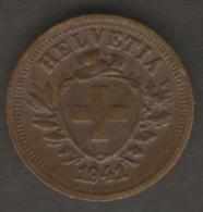 SVIZZERA 1 RAPPEN 1941 - Svizzera