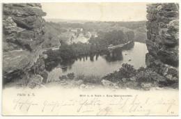 Postkarte Weltpostverein. Halle Blick A.d. Saale V. Burg Giebichenstein. 2 Scans. 18.10.1902 Nach Querfurt Union Postale - Halle (Saale)