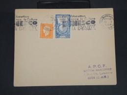 FRANCE-Enveloppe  Avec Obl Méca. De La Conférence De L'Unesco De Paris 1951 à Voir P7136 - Mechanical Postmarks (Advertisement)