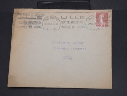 """FRANCE-Enveloppe  Avec Obl. """"Lille Centre Industriel"""" En 1929 à Voir P7139 - Mechanical Postmarks (Advertisement)"""