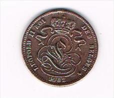 *** LEOPOLD II   1 CENTIEM   1902 FR - 1865-1909: Leopold II