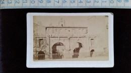 Photo Petit Format Sur Carton, Nimes, Pont D'Auguste, Par Dorizzi, Avant 1900 - Lieux