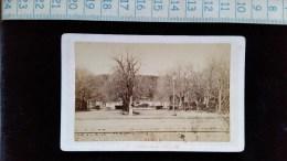 Photo Petit Format Sur Carton, Nimes, Jardin De La Fontaine, Par Dorizzi, Avant 1900 - Lieux