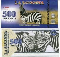 LA SAVANNA - ZEBRES / 500 FRANCS - SPECIMEN - Specimen