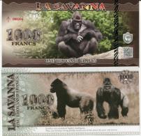 LA SAVANNA - GORILLES / 1000 FRANCS - - Specimen