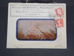 """FRANCE-Enveloppe Commerciale """"fonderie Deberny Et Peignot"""" De Paris En 1925  à Voir P7149 - 1921-1960: Modern Period"""