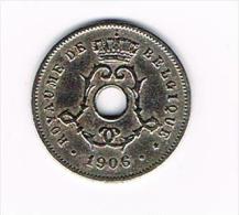 *** LEOPOLD II  5 CENTIEM  1906 FR - 1865-1909: Leopold II