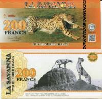 LA SAVANNA - LEOPARD / 200 FRANCS - - Specimen