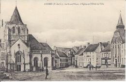 CPA Ardres, La Grand'Place, L'Eglise Et L'Hotel De Ville - Ardres