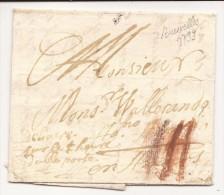 """L. Datée De Bruxelles 1799 Port III à La Craie Rouge + """"délivrée Sur La 1ere Heure, Double Port"""" Pour Anvers - 1794-1814 (Période Française)"""