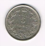 *** ALBERT I  5 FRANK UN BELGA  1932 FR  POSITIE B - 09. 5 Francs & 1 Belga