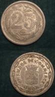 M_p> Algeria Chambre De Commerce ORAN 25 Centesimi 1922 In Alluminio - Algeria