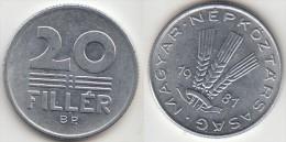 Ungheria 20 Filler 1981 Km#573 - Used - Ungheria
