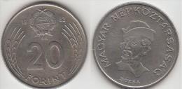 Ungheria 20 Forint 1982 Km#630 - Used - Ungheria