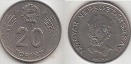 Ungheria 20 Forint 1985 Km#630 - Used - Ungheria