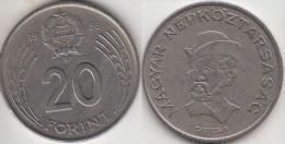 Ungheria 20 Forint 1986 Km#630 - Used - Ungheria