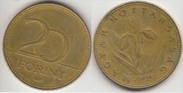 Ungheria 20 Forint 1994 Km#696 - Used - Hungría