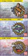 Astrologie Oplage 9000 Stuks Oostenrijk 12 Boekjes Met Elk 3 Themazegels - Autriche