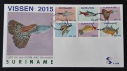 REP. SURINAME 2015 FDC E 384 VISSEN POISSON FISHES BLANK
