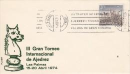SCHACH-CHESS-ECHECS-SCACC HI, SPAIN-ESPAGNE, 1974, Special Postmark !! - Scacchi