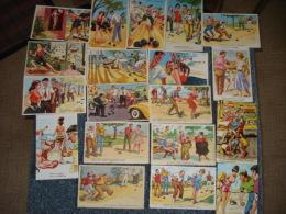 """Lot De 30 Cpa Illustree """" Chaperon , Carriere , Et Autres """" Sur Le Theme De La Petanque - Cartes Postales"""