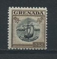 GRENADA   1951   25c  Black  And  Sepia    MH - Grenada (...-1974)