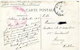 CACHET 13eme Artillerie Services Automobile 1916 Sur Cpa ORLEANS Place Du Martroi - Militaria