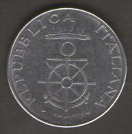 ITALIA 100 LIRE 1981 CENTENARIO ACCADEMIA NAVALE DI LIVORNO - 100 Lire