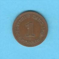 GERMANY   1 PFENNIG  1890 A  (KM # 10) - [ 2] 1871-1918 : German Empire