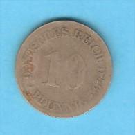 GERMANY   10 PFENNIG  1876 (KM # 4) - [ 2] 1871-1918 : German Empire